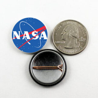 1 inch NASA meatball pin